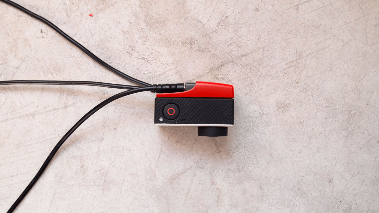 The GoHawk takes the form of an expansion module which plugs into the back of a GoPro Hero 4