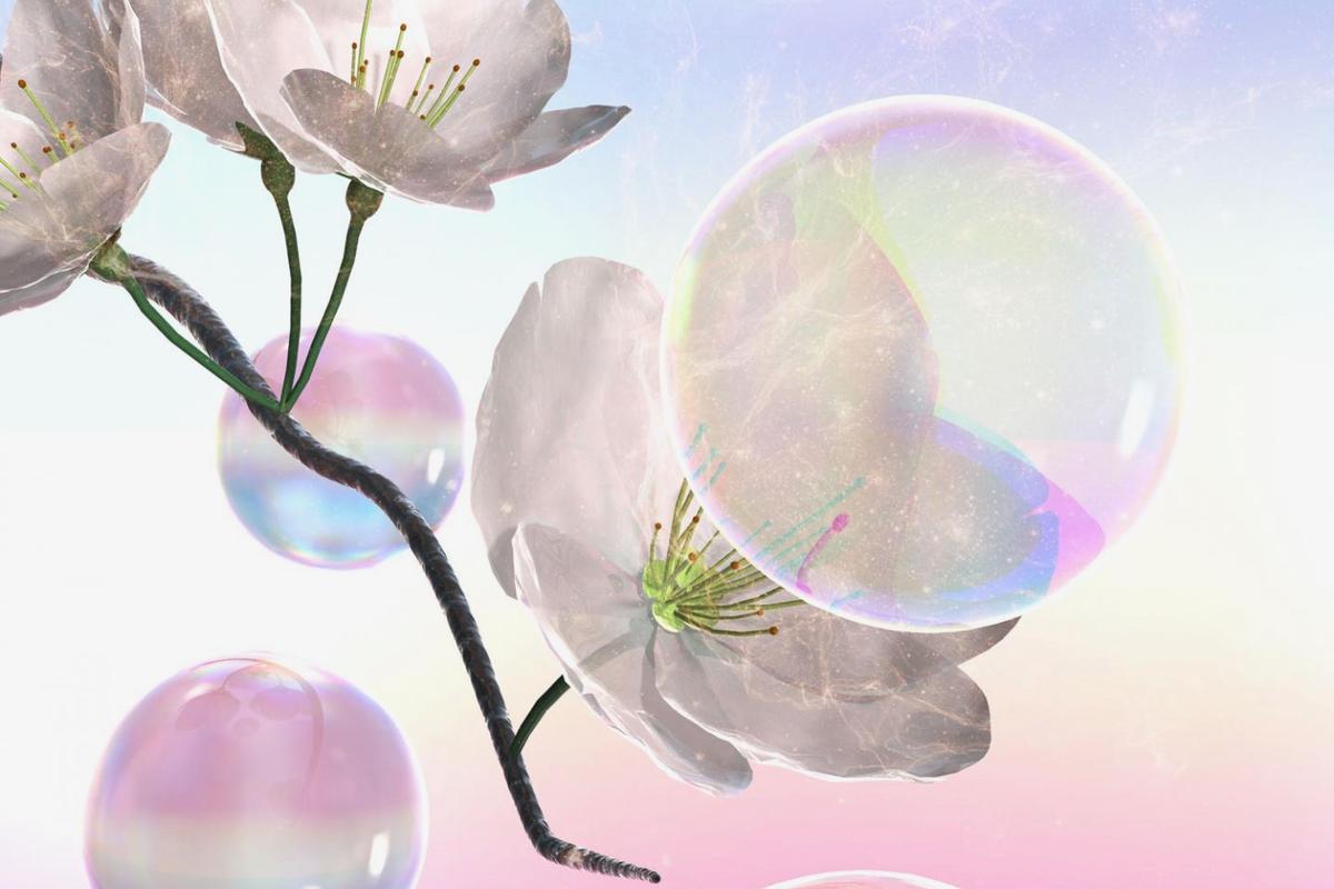 Each bubble carries about 2,000 pollen grains