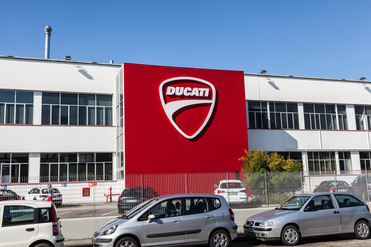 The Ducati Factory, in the Borgo Panigale district some 8km from the centre of Bologna, Italy.