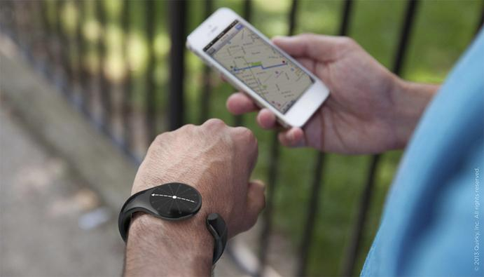 The Navigo bracelet syncs to a smartphone via Bluetooth and uses vibrations to guide you in the right direction