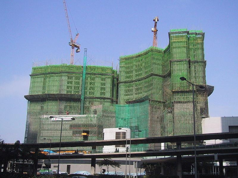 Bamboo scaffolding is a common sight in Asian construction