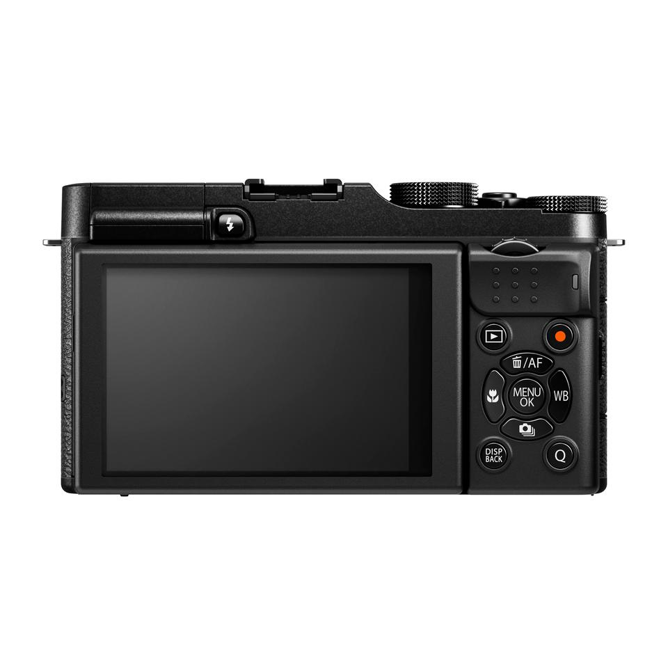 Fujifilm has placed all of the camera's key buttons and dials on the right side for one-handed operation