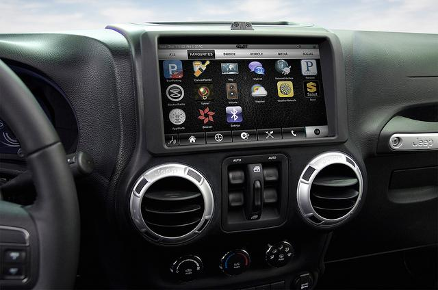 View of the CAR 2 app tray