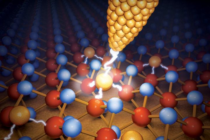 Researchers have created a new computer chip that stores data using the movements of individual atoms