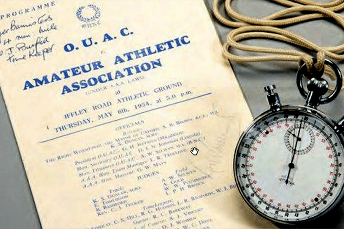 One of five stopwatches which recorded the first four minute mile is going to auction on May 18, 2015 atGraham Budd Auctions in London