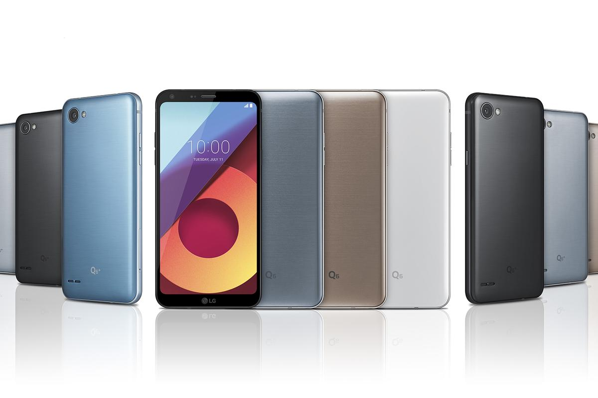 The LG Q6 line keeps the expanded display but knocks down performance levels