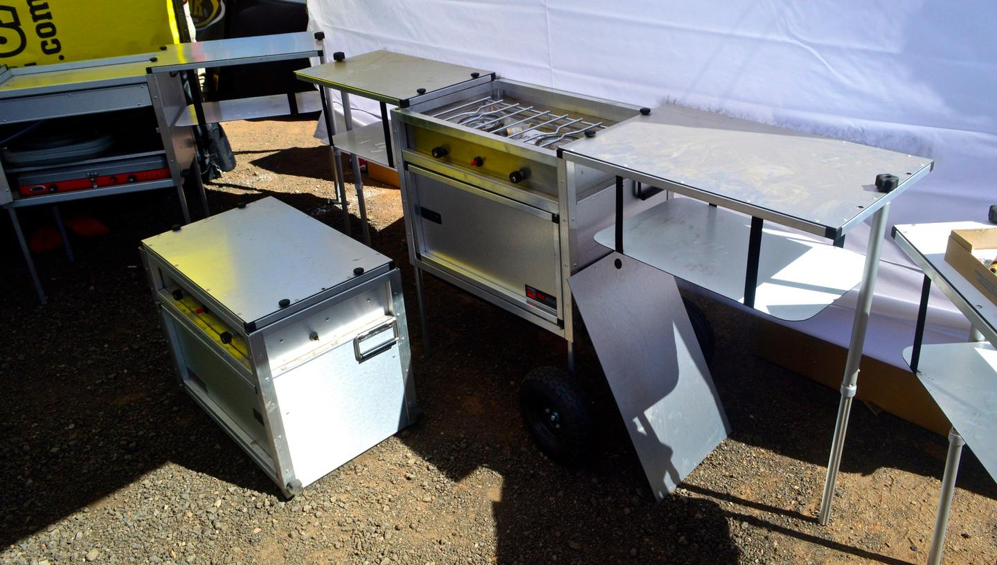 The Trail Kitchens Camp Kitchen with integrated stove costs $899