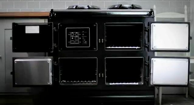 The AGA iTotal Control Cooker can be remotely controlled by text message, dedicated website or smartphone app