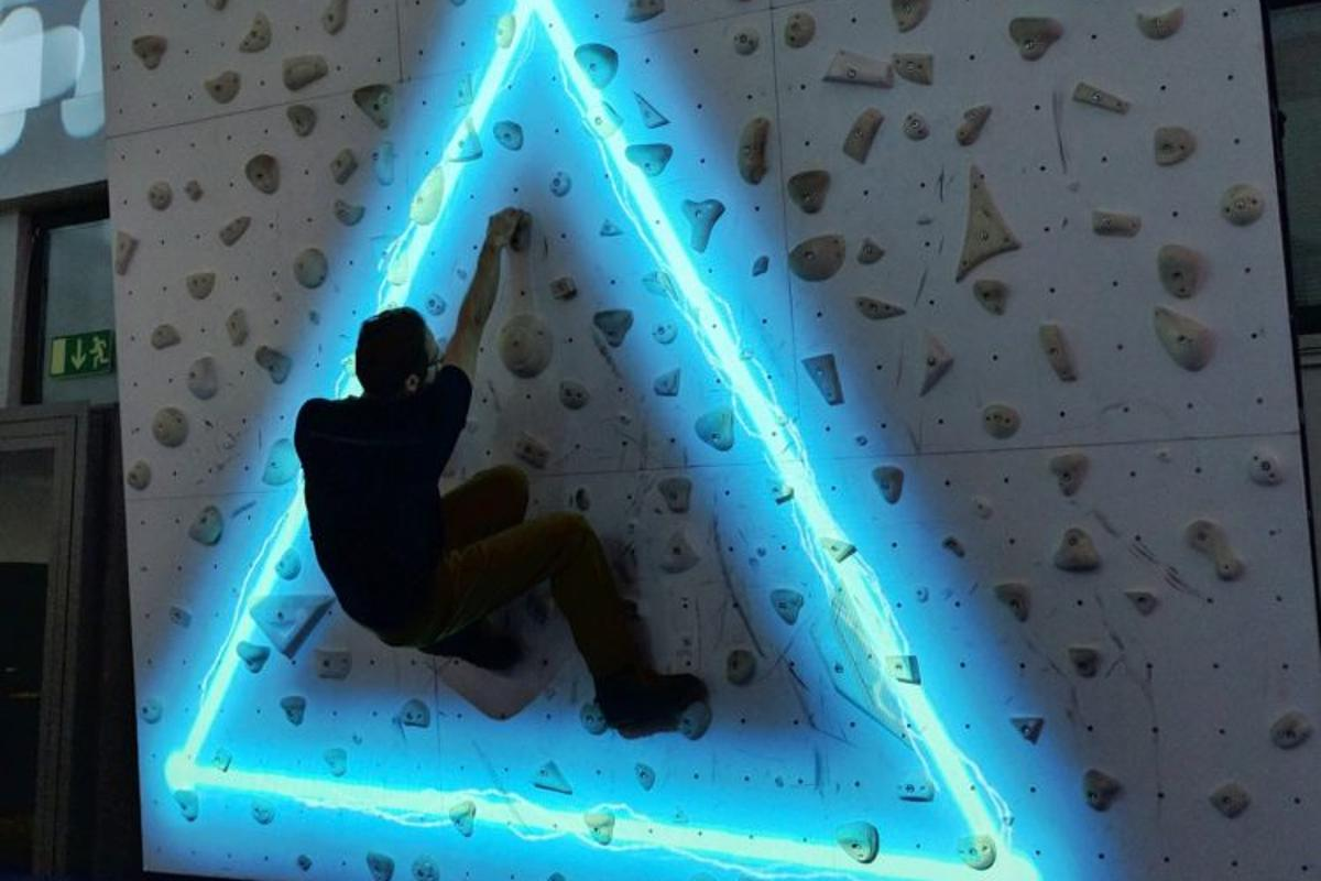 Augmented Climbing's Sparks - stay away from the laser beams!