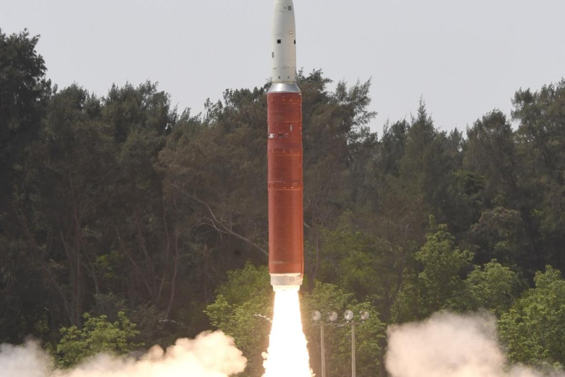 The satellite was destroyed by a Shakti missile