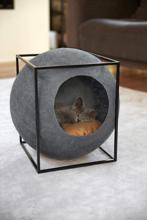 Paris-based purveyor of feline furniture Meyou offers plush furniture for discerning cats and their indulgent owners