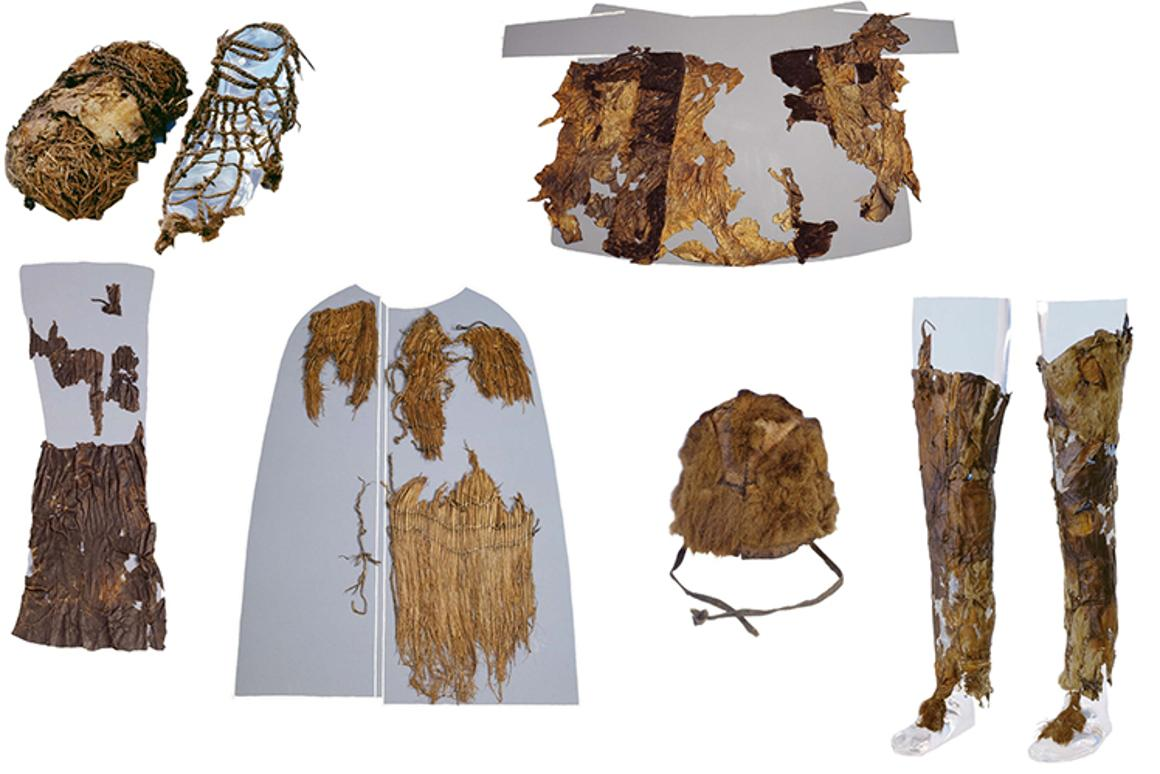 The clothing found with the iceman in 1991