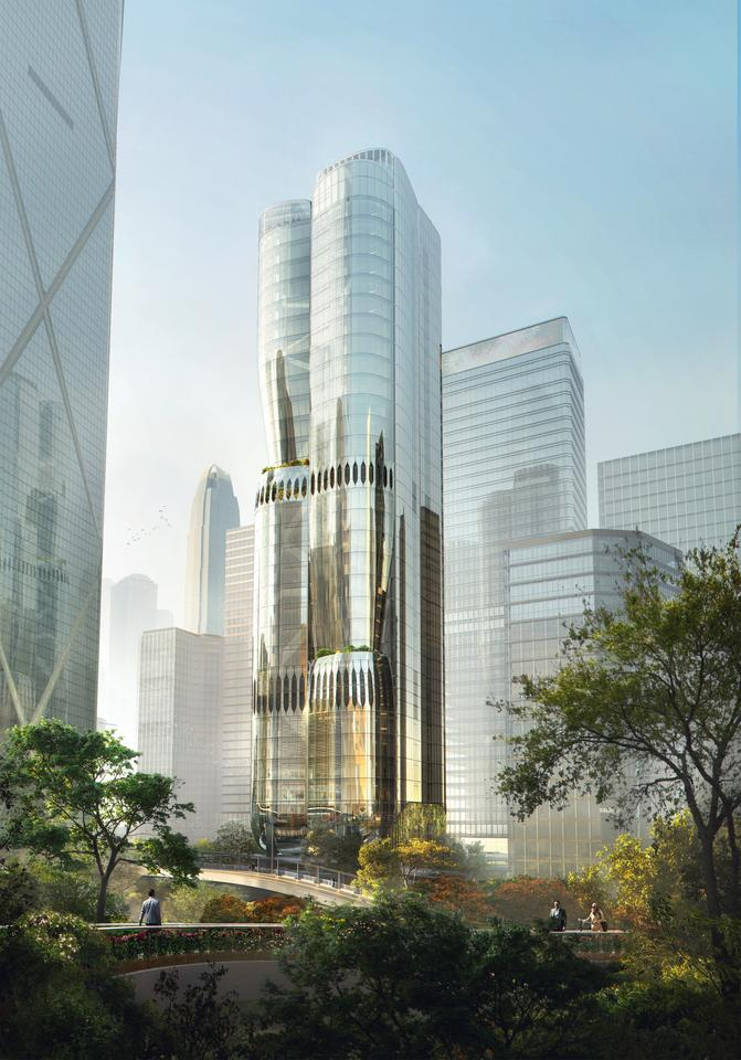 2 Murray Road is envisioned as a Hong Kong orchid tree about to blossom