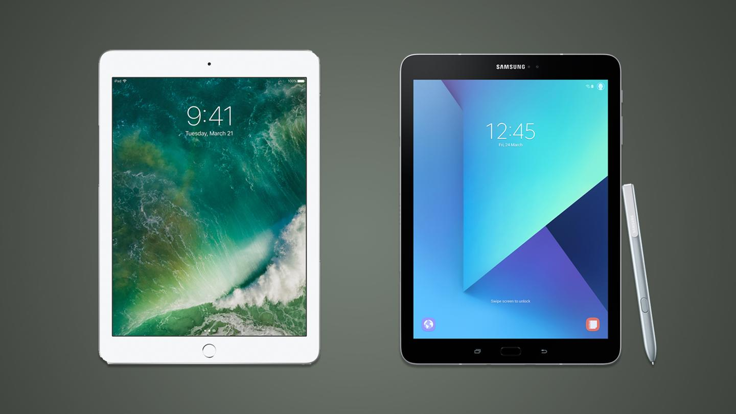 Apple and Samsung are both releasing new tablets this week, but the iPad takes an entry-level approach and theTab S3 isa top shelf device. Here's how they compare.