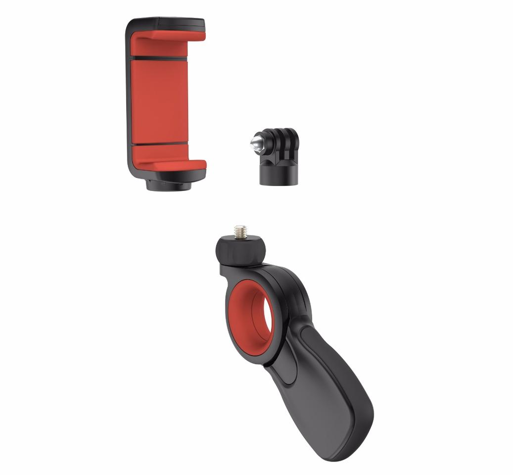 The Olloclip Pivot will be available from late October priced at US$50, which includes the grip, universal clamp and GoPro adapter