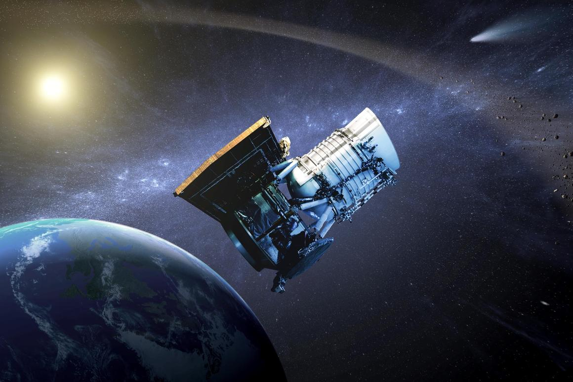 Artist's impression of the NEOWISE telscope