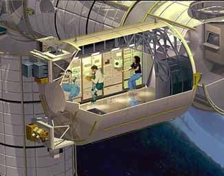 The Columbus station module (Image: ESA)