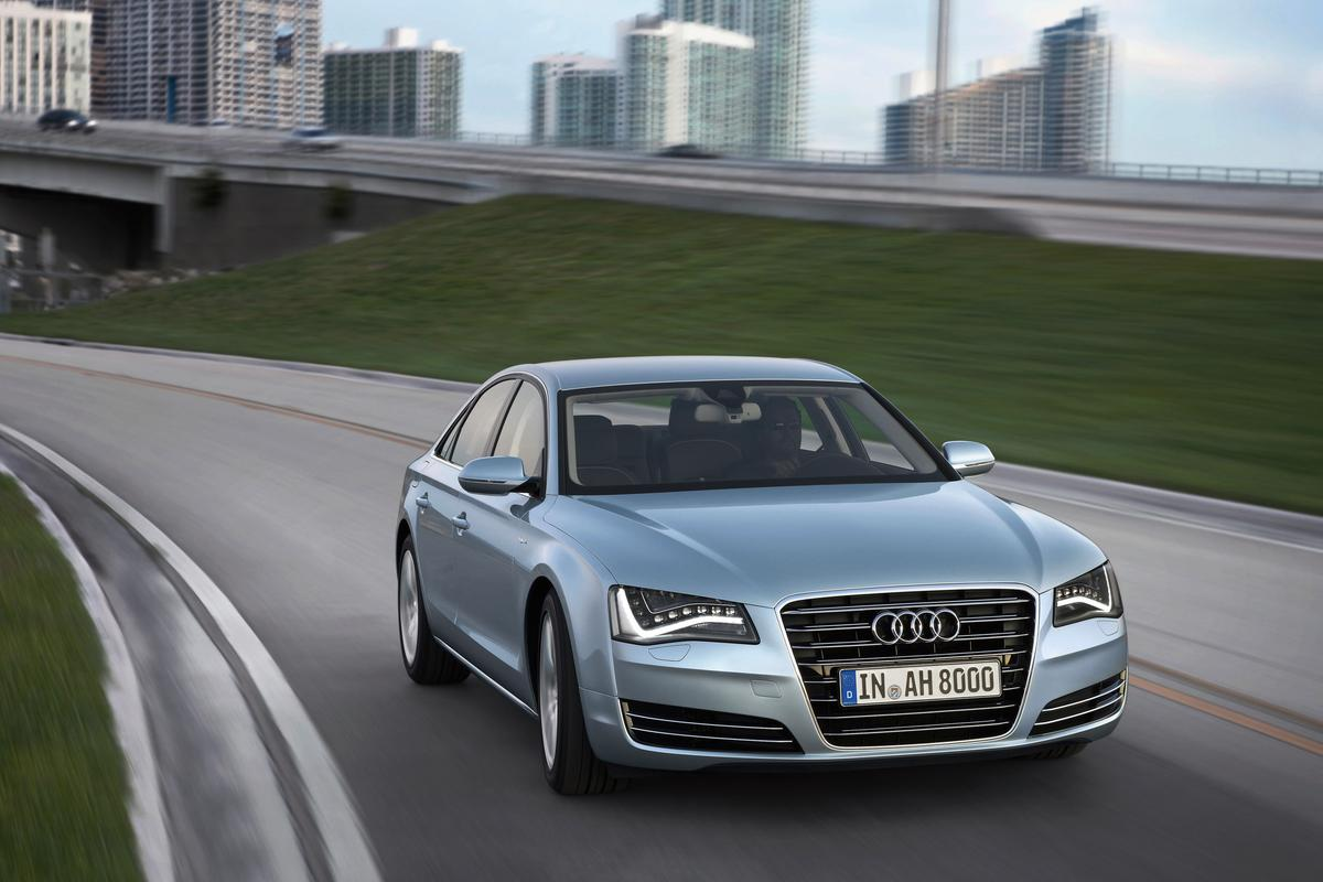 The Audi A8 hybrid that is set to enter production in 2012