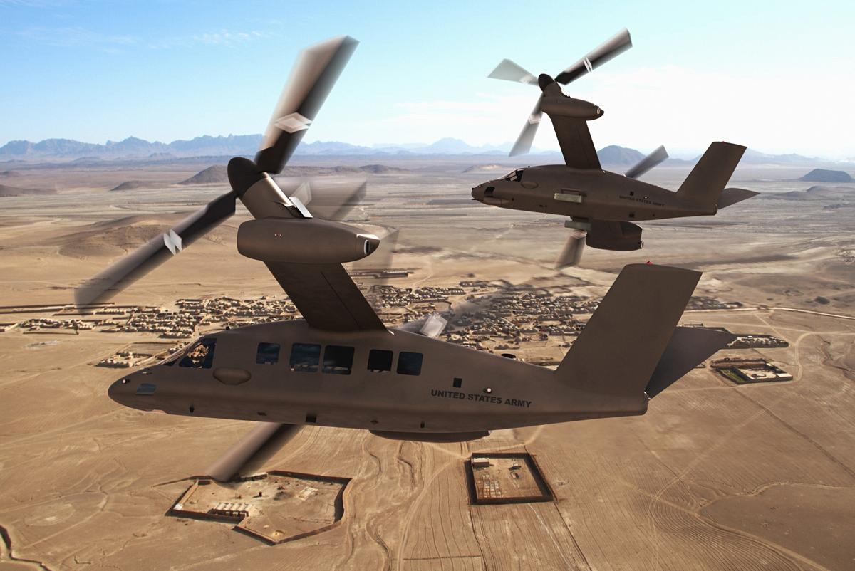 The V-280 Valor in airplane mode