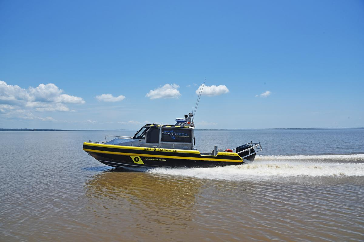The Sharktech 29 Defiant allows for manned, reduced-crew and unmanned operation
