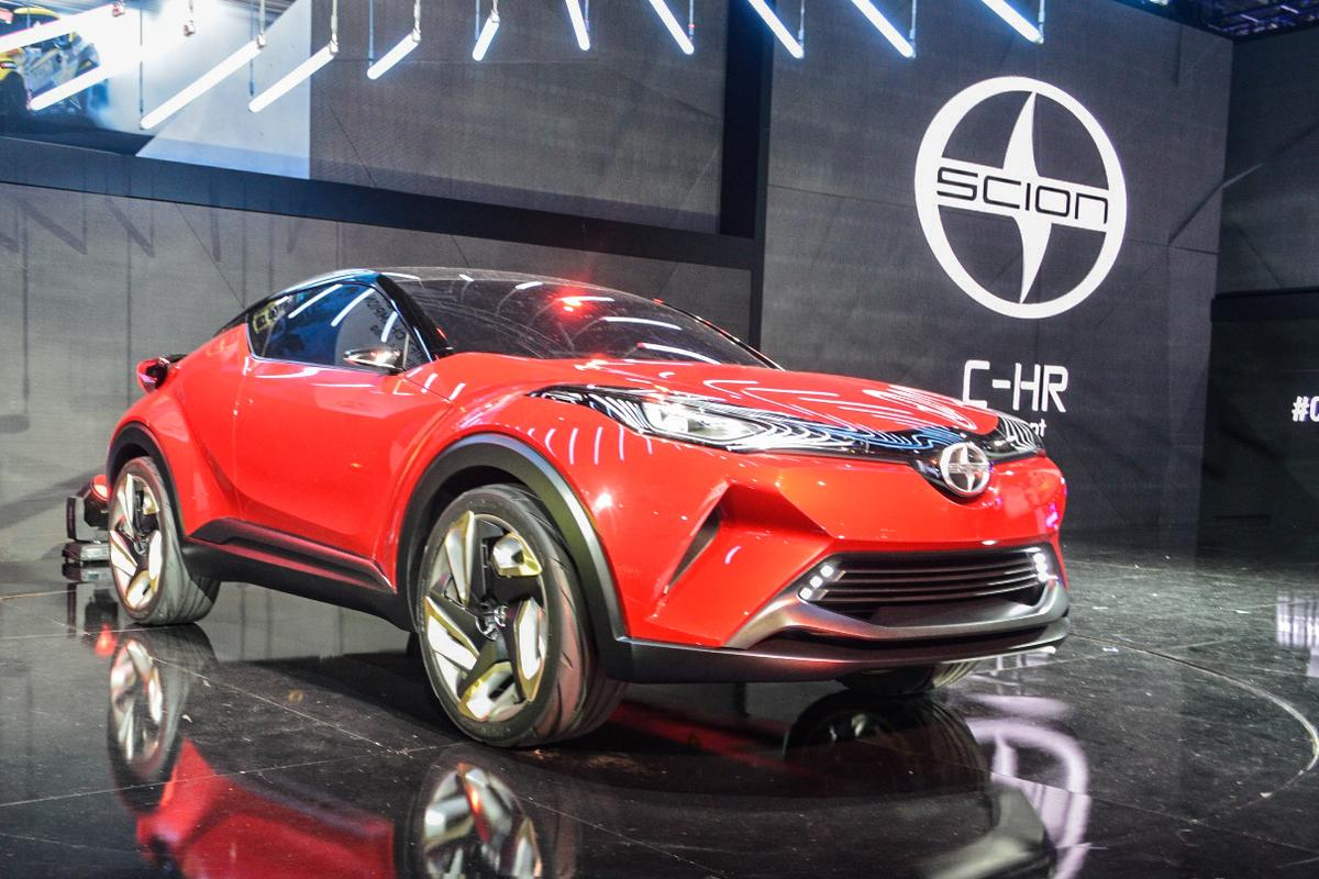 The C-HR is nearly production-ready and is planned for introduction in the Scion model lineup in 2016