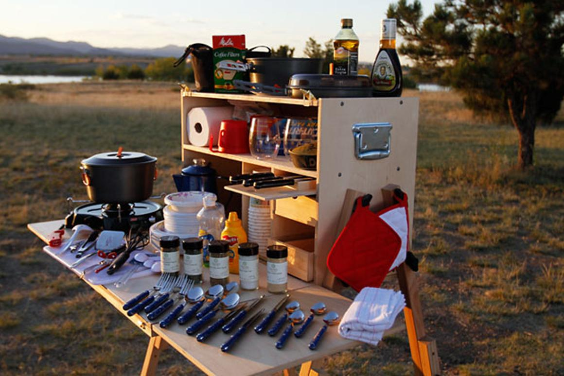 My Camp Kitchen packs a full wilderness kitchen in a box