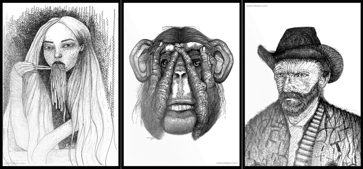 Examples of art drawn with the Inki pen