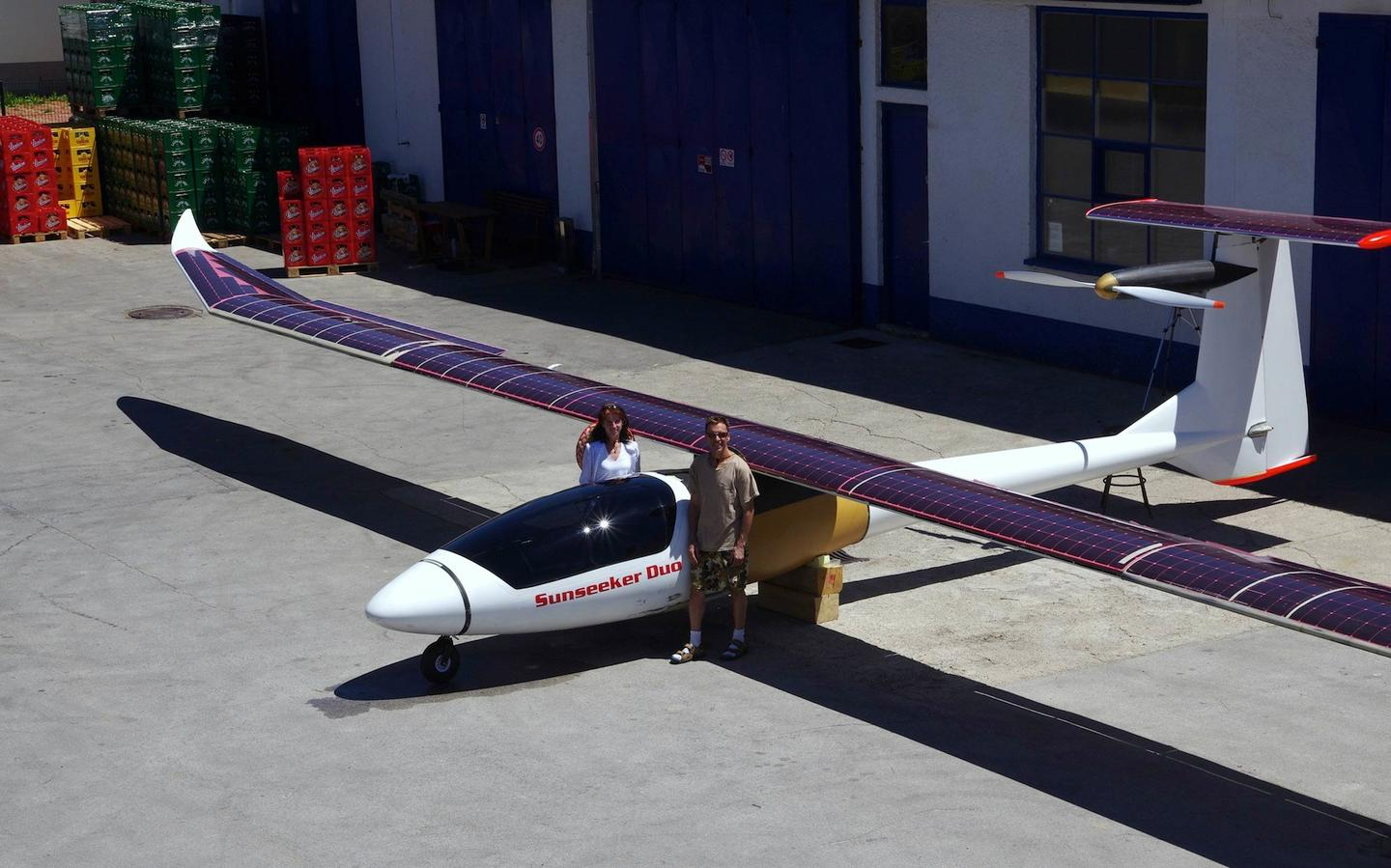The Sunseeker Duo is billed as the world's first two-passenger solar aircraft