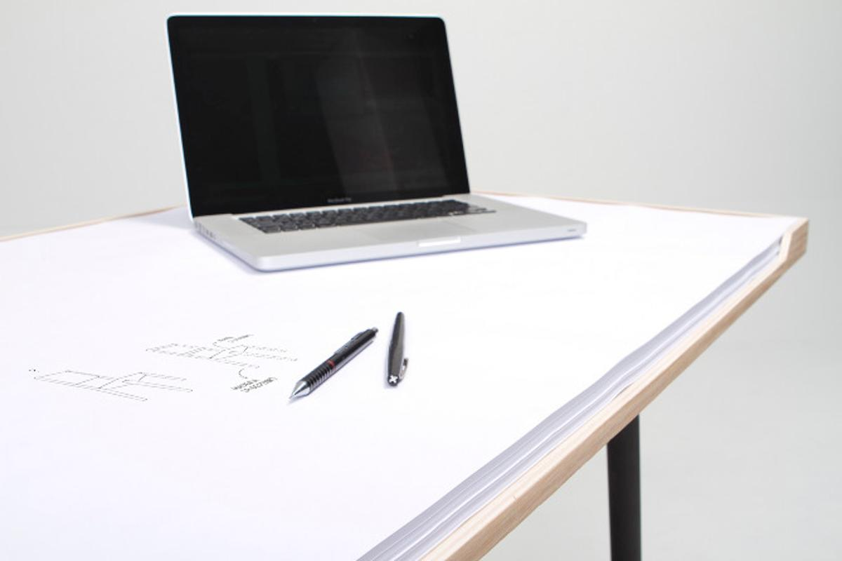 """Designed by Portuguese industrial designer Miguel Mestre, the """"My Desk"""" is a hybrid of a desk and a notepad designed to be scribbled, doodled, sketched and written all over"""