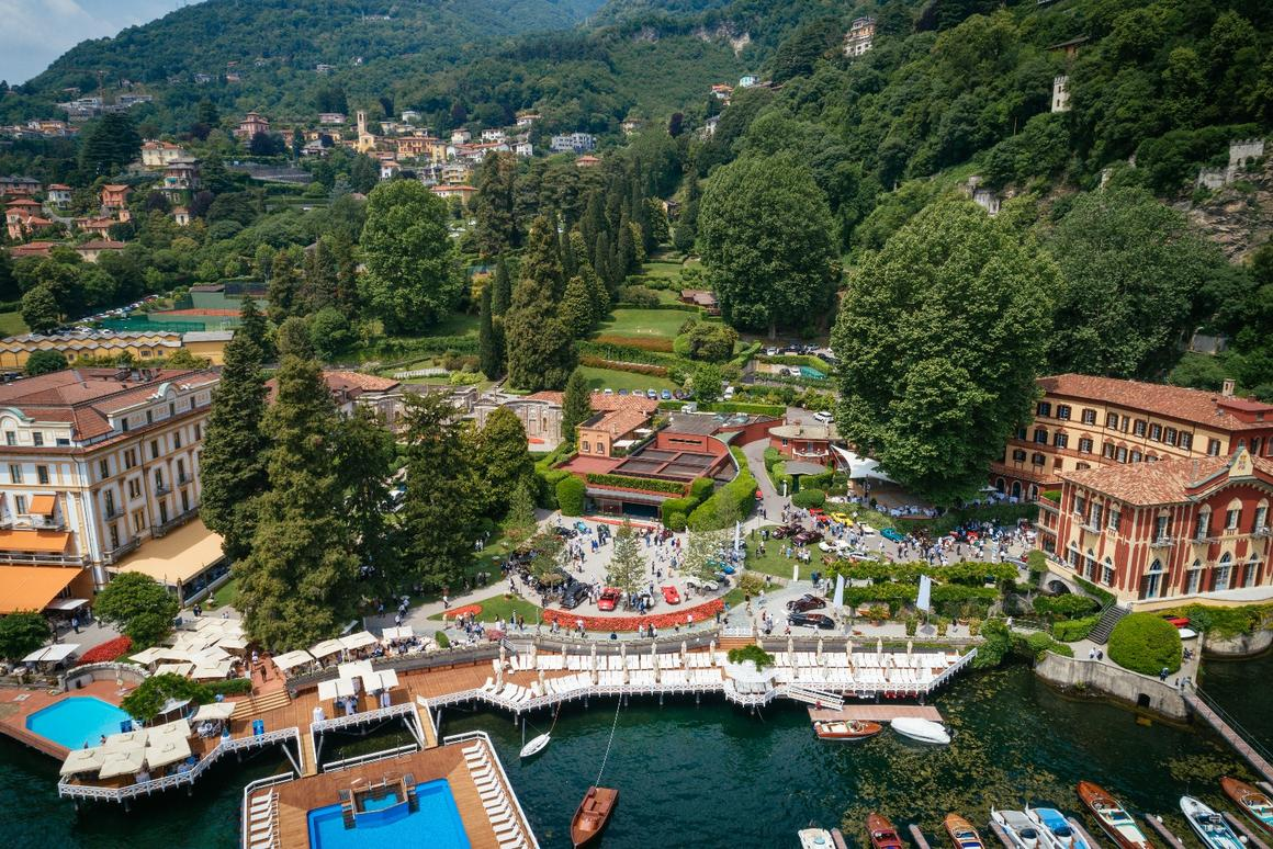 The historic and beautiful grounds of Villa d'Este and Villa d'Erba form an ideal backdrop for the Concorso d'Eleganza