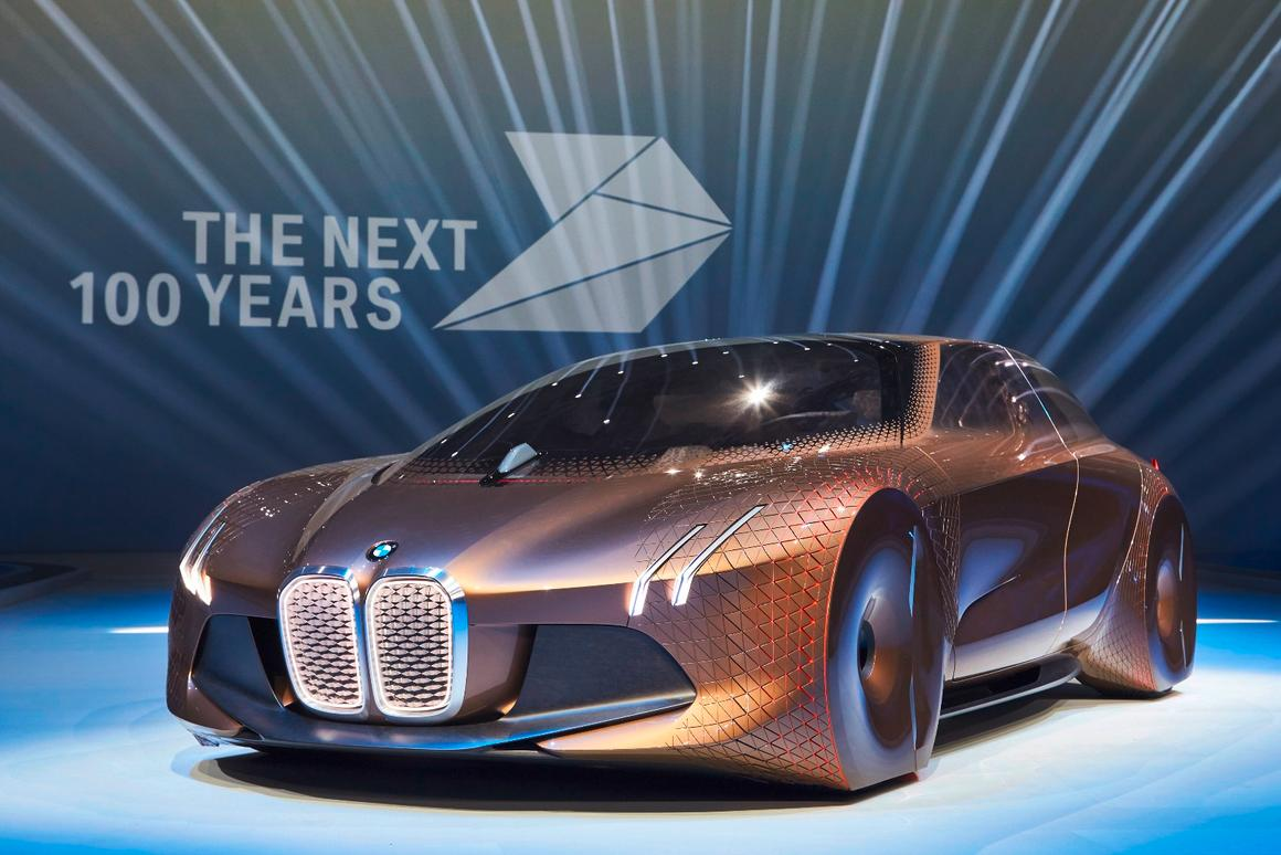 The BMW Vision Next 100 concept looks forward to the features of tomorrow's autonomous car