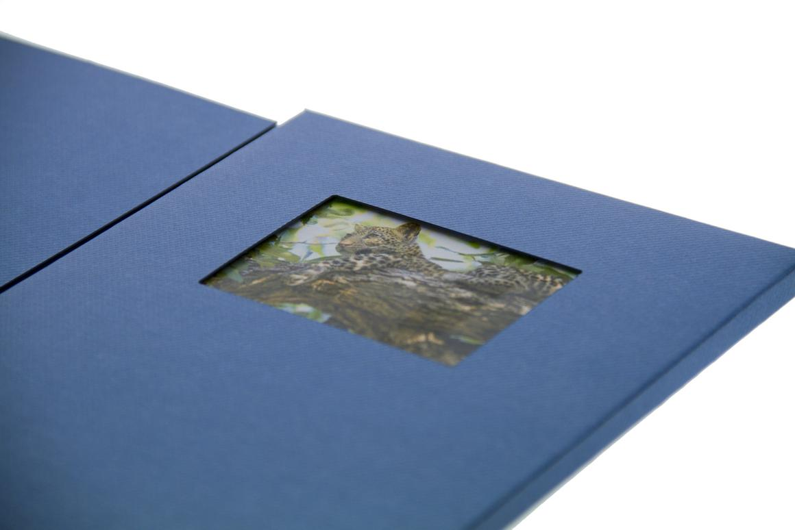 With an LCD display housed within the body of a folder, TV in a Card can bring a brochure, greetings card or training booklet to life