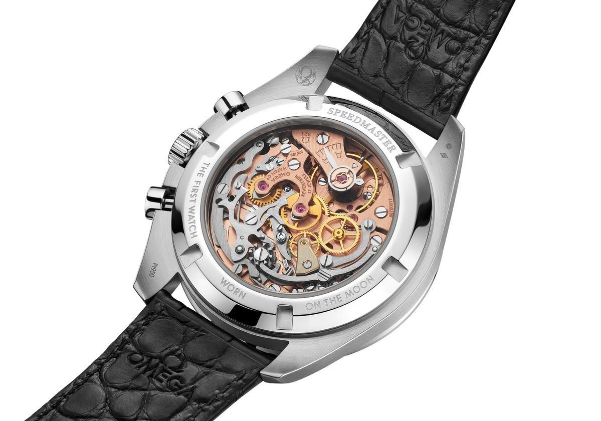 TheSpeedmaster Moonwatch 321 Platinumreverse crystal