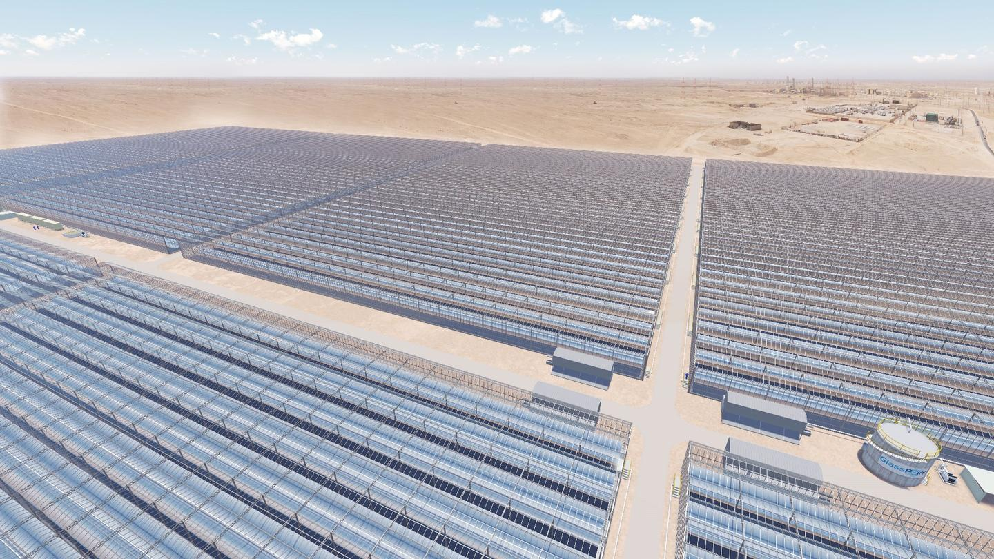 Once completed the finished solar power plant in Oman will generate an average of 6,000 tons (5,443 tonnes) of solar-produced steam daily