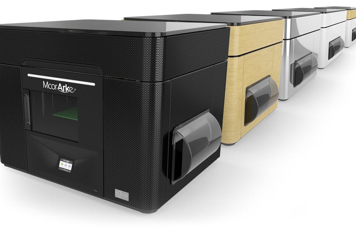 The Mcor Arke full-color desktop 3D paper printer