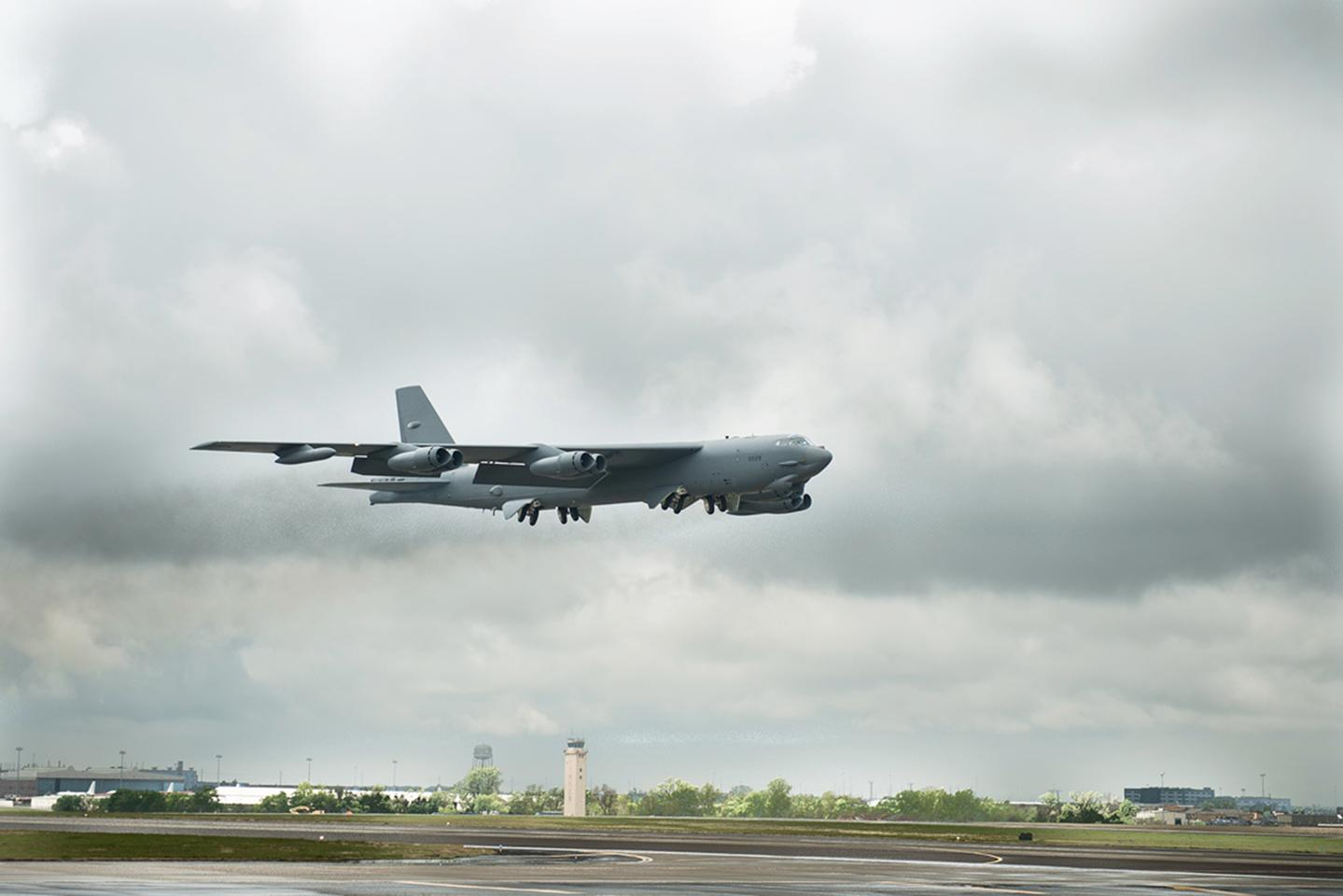 The first B-52 with Boeing's CONECT communications system has been rolled out to the US Air Force