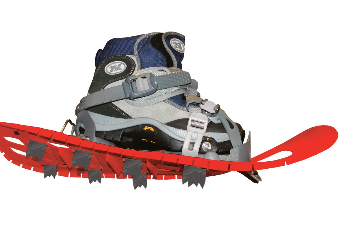 The Symbioz flexes and twists well beyond other snowshoes
