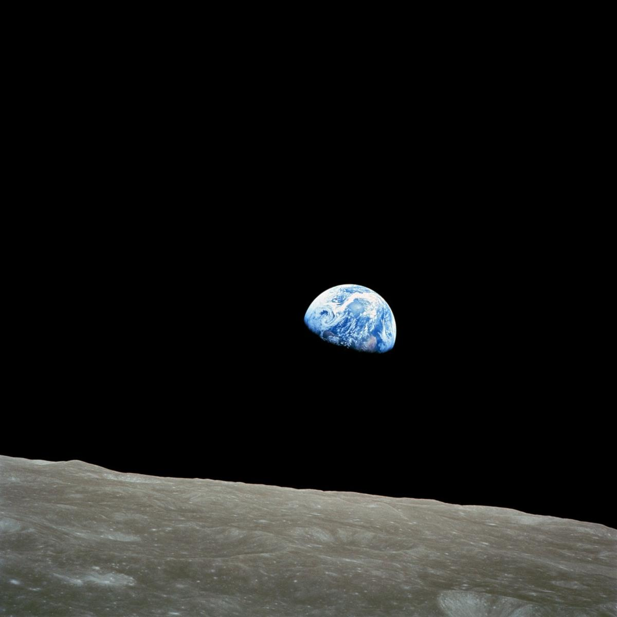 "Another iconic ""Earthrise"" image taken in 1968"
