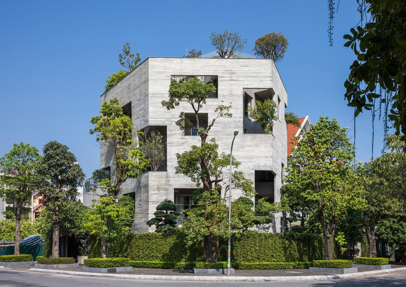 Ha Long Villa is the latest project in Vo Trong Nghia's House for Trees series, which aims to reintroduce greenery to Vietnam's inner-city areas