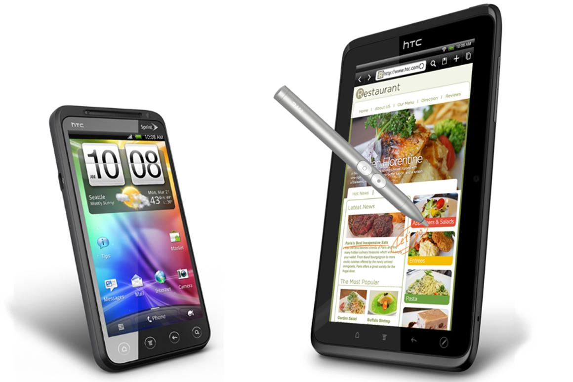 Sprint will release the HTC EVO 3D smartphone and HTC EVO View 4G tablet later this year