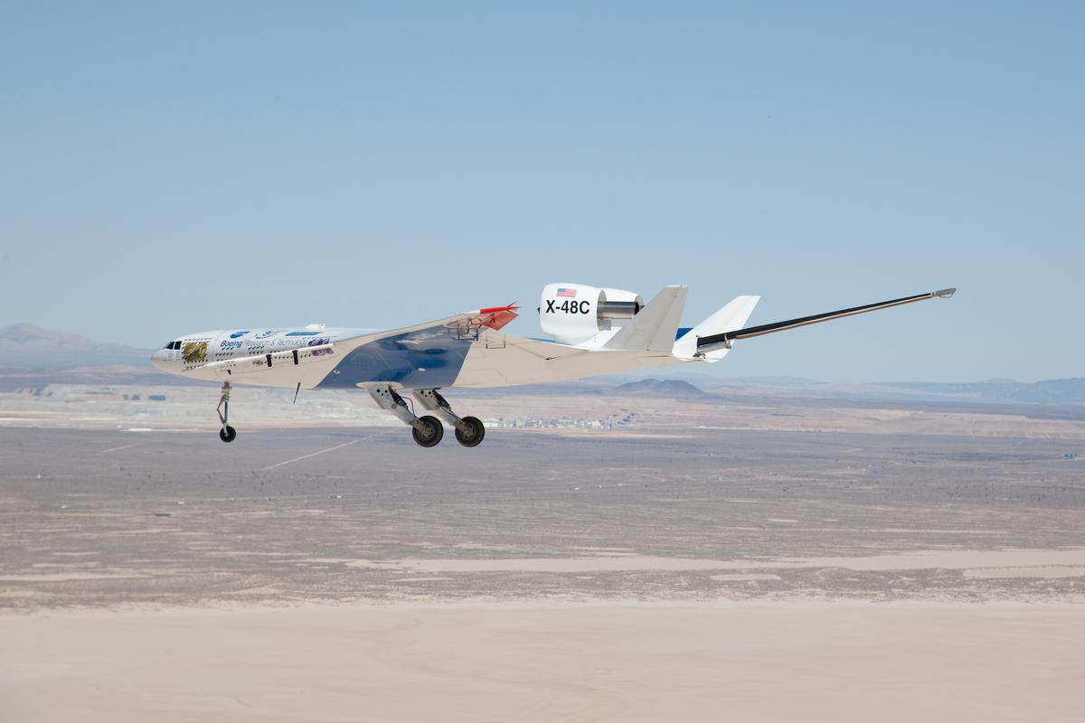 The flight testing campaign of the X-48C came to a close with the 30th and final flight of the Blended Wing Body research aircraft (Photo: Boeing)