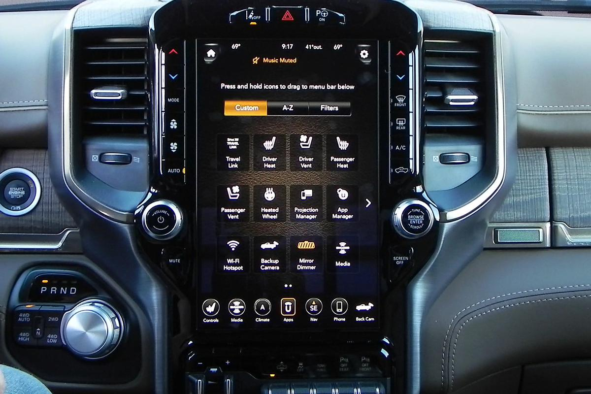 After a week in the 2019 Ram 1500 Laramie Longhorn model, we've become very familiar – and enamored – with the new Uconnect 4C Nav 12-inch infotainment system
