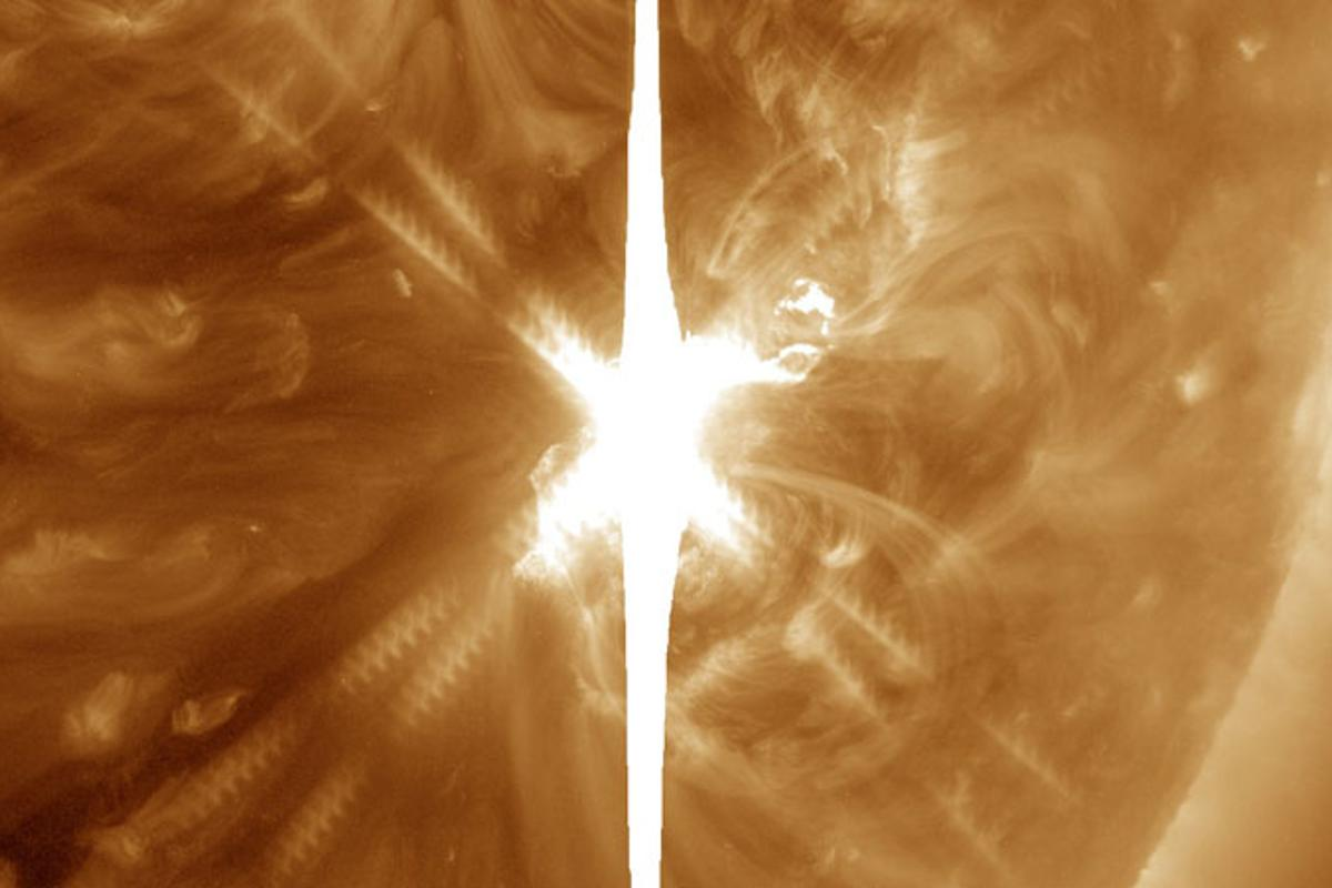 The Sun has ejected the largest solar flare in 12 years, with an energy rating of X9.3