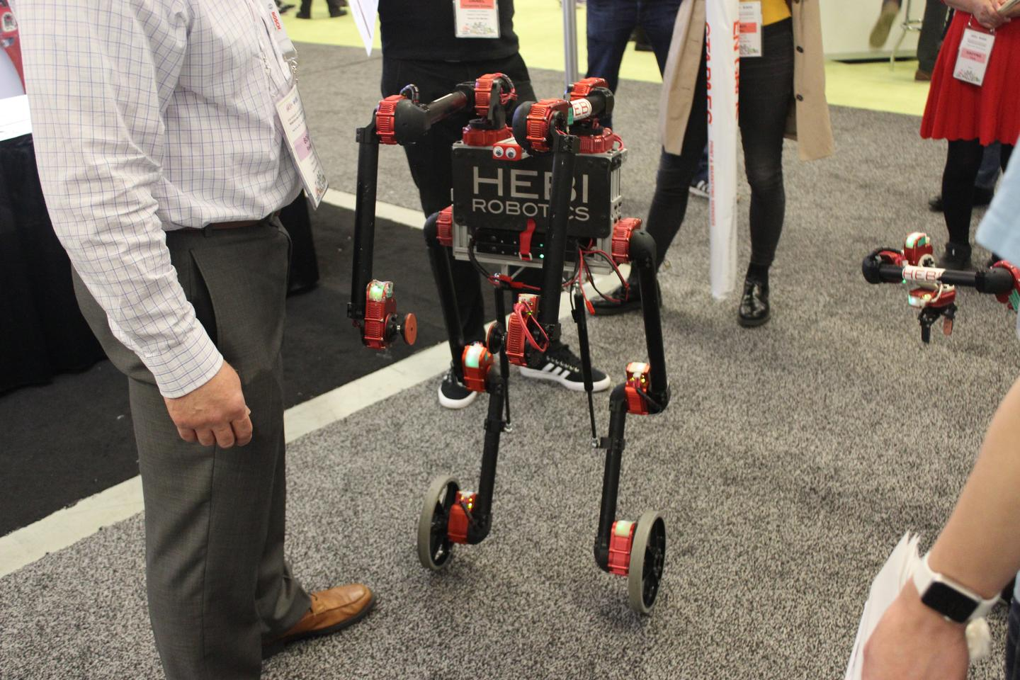 Available as an assemble-it-yourself kit, this machine from HEBIRobotics uses 14 interconnected actuators that control position, torque and velocity, allowing the robot to self-balance itself on two wheels