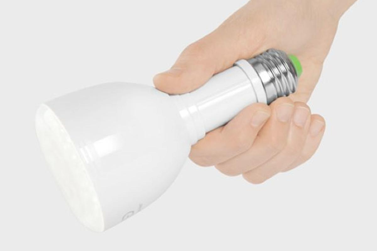 The Bulb Flashlight is a light bulb that converts into a flashlight when needed