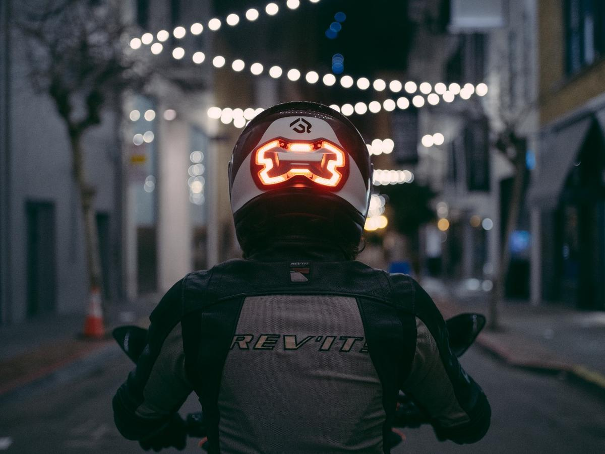 Placing the Brake Free on the helmet makes the light more visible to other road users