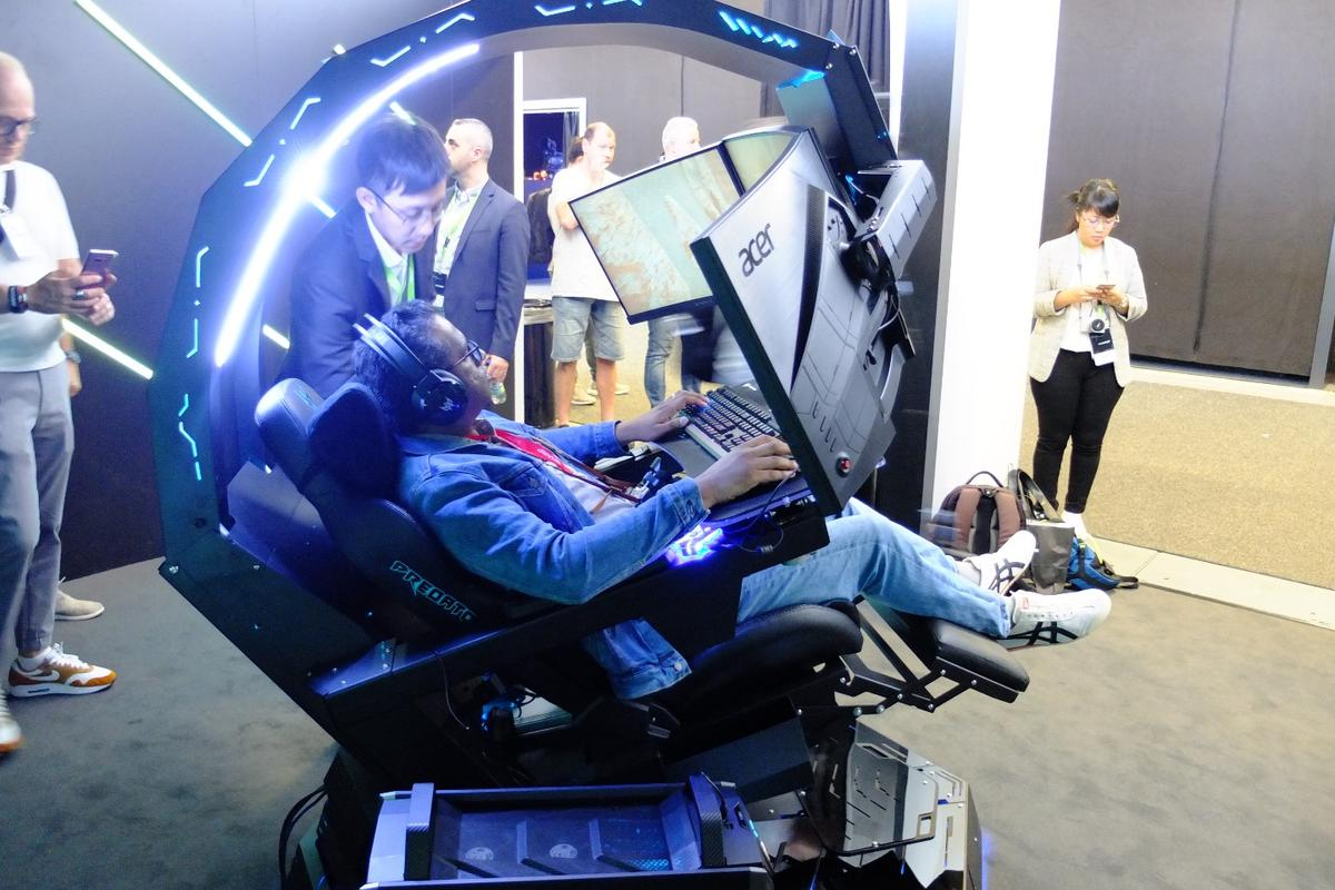 Acer unveils its Thronos gaming cockpit at IFA 2018