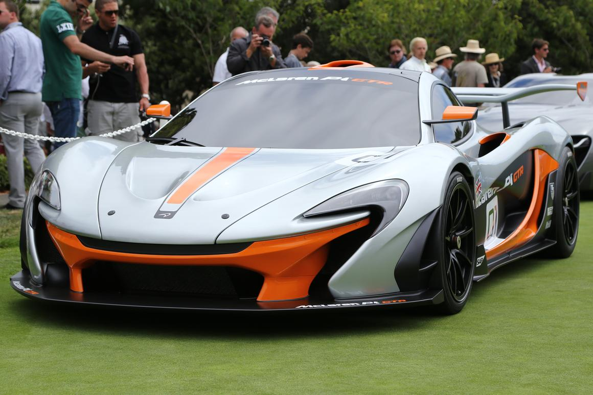 The P1 GTR design concept unveiled at Pebble Beach gives a preview of the forthcoming production version (Photo: Angus MacKenzie/Gizmag)