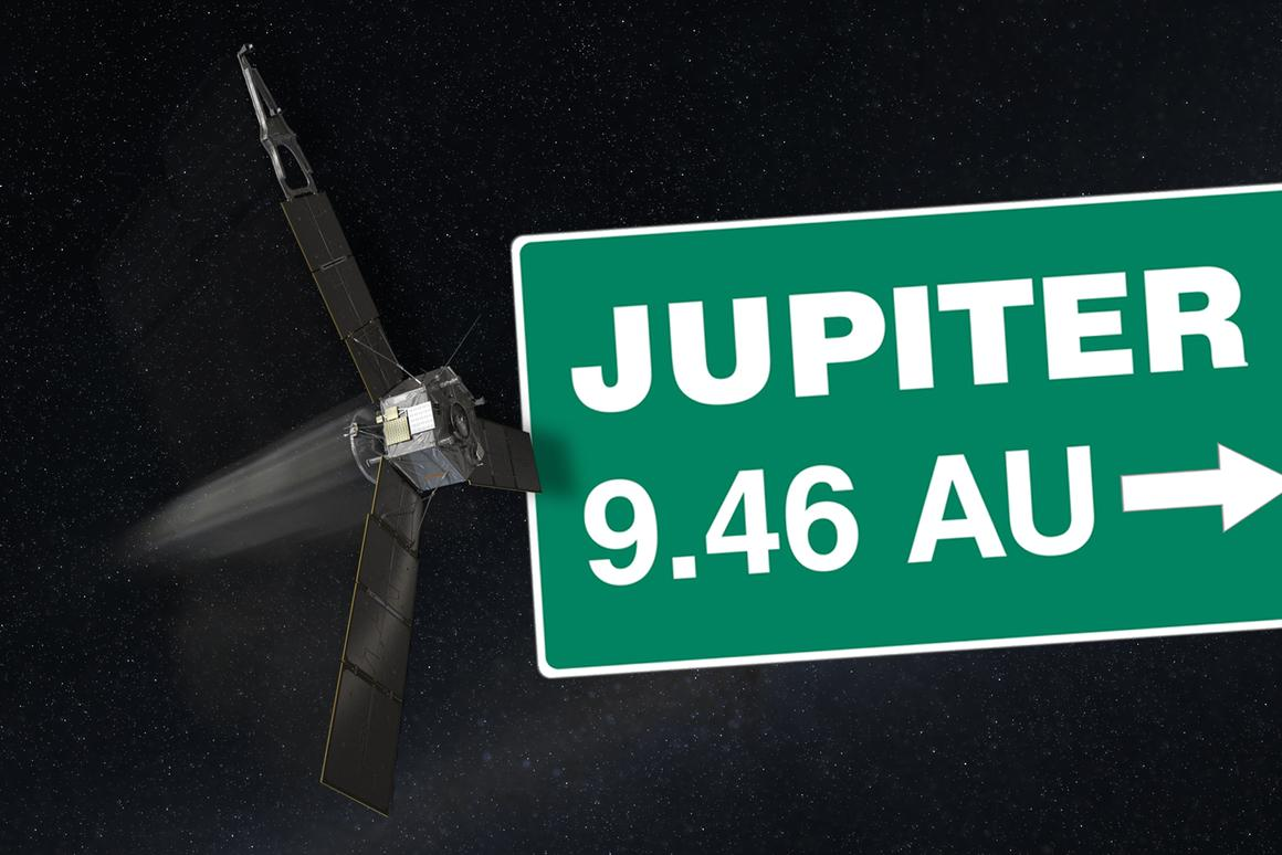 On Monday, Juno had traveled half the distance to Jupiter (Image: NASA/Caltech)