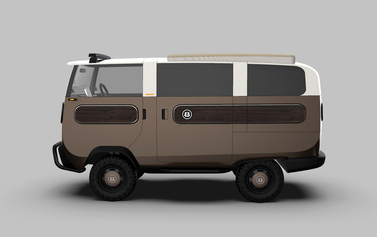 With electric four-wheel drive baked in, the eBussy will be a platform for a capable and tiny off-roader